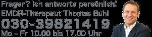 Thomas Buhl, EMDR- und Traumatherapeut beantwortet Ihre Fragen persönlich!